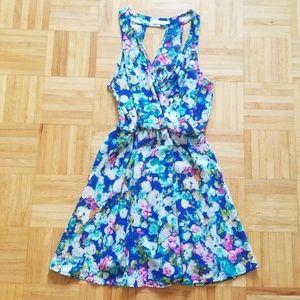 LUSH blue floral dress